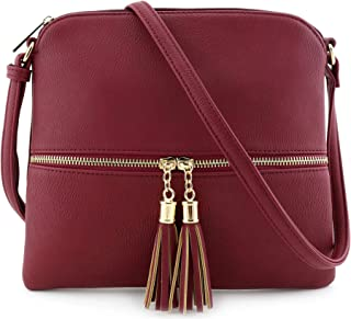 ccb004c465 Lightweight Medium Crossbody Bag with Tassel