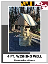 4 ft. Wishing Well Woodworking Plans. DIY guide includes photos at every step.