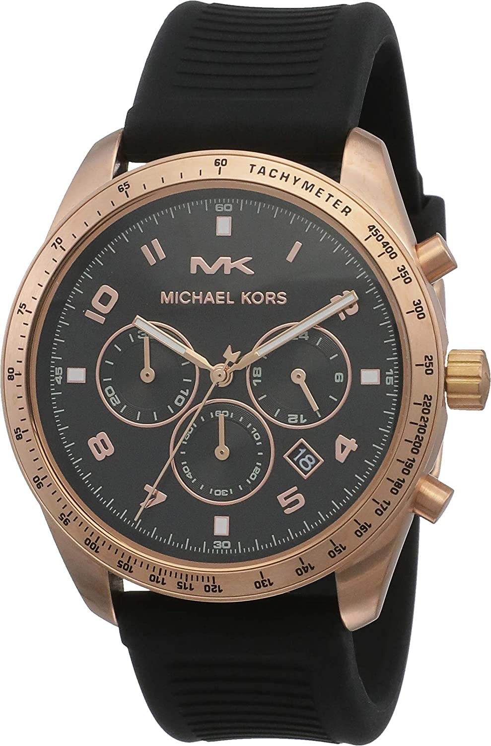 Michael Kors Men's Keaton Stainless Sili with Max 63% OFF Limited time trial price Steel Quartz Watch