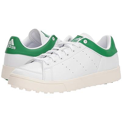 adidas Golf Jr. Adicross Classic (Little Kid/Big Kid) (Footwear White /Footwear White/Green) Golf Shoes
