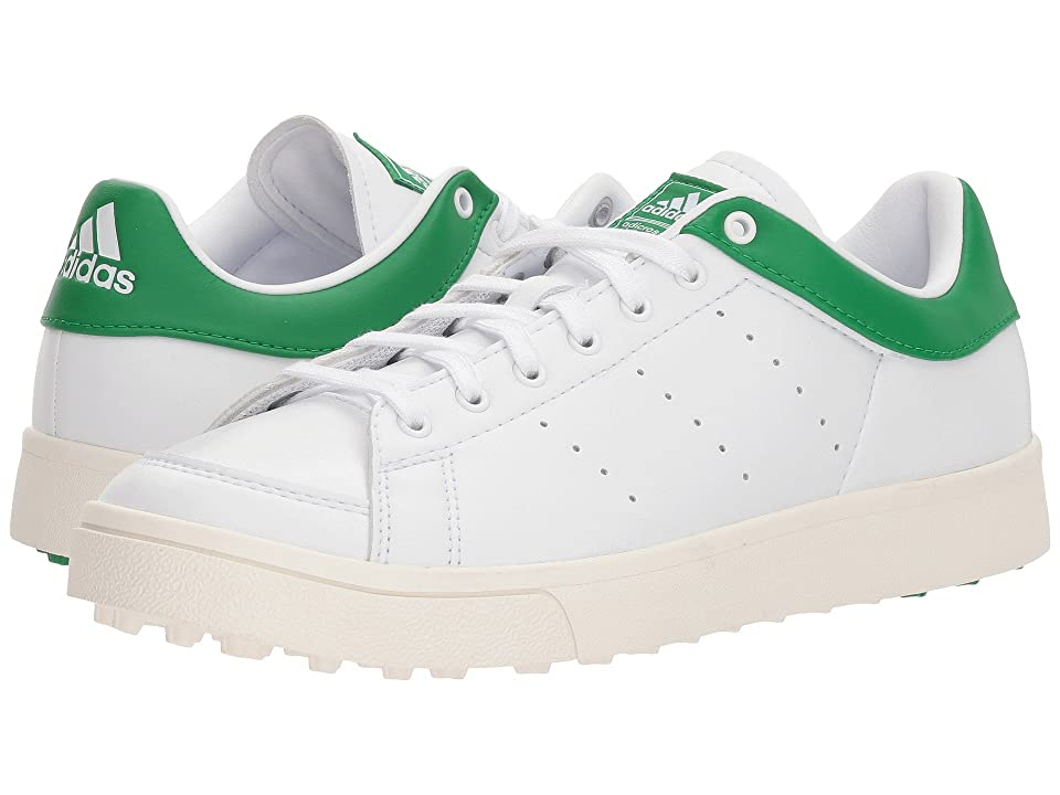 adidas Golf Jr. Adicross Classic (Little Kid/Big Kid) (Footwear White /Footwear White/Green) Golf Shoes