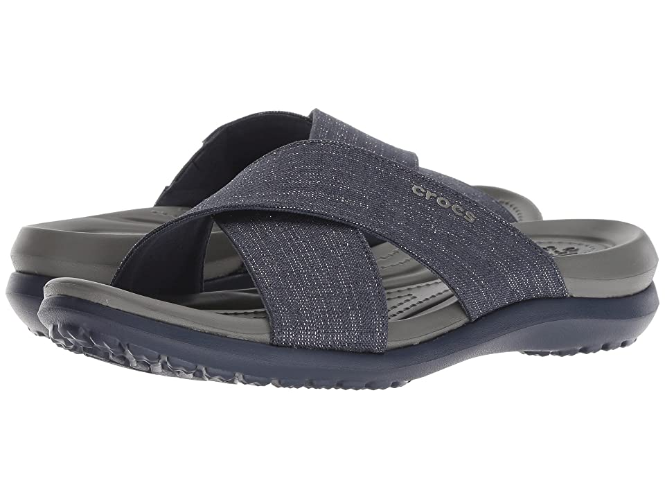 Crocs Capri Shimmer Xband (Navy/Slate Grey) Women