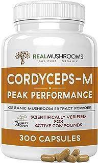 Cordyceps-M Peak Performance Supplement for Energy, Stamina & Endurance, 300 Caps Vegan Cordyceps-M Supplement for Immunity, Non-GMO & Vegan, Verified Levels of Beta-Glucans, 150Day Supply