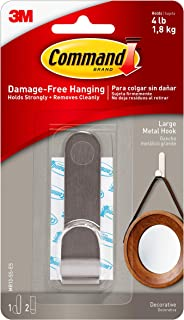 Best Command Modern Metal Hook, Large, 1-Hook (MR13-SS-ES), Decorate Damage-Free Review