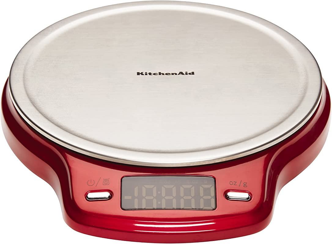 KitchenAid Stainless Steel Easy Red Digital Scale Red