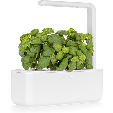 Giardino di aromatiche indoor Click & Grow Smart Garden 3 (Include capsule di semi di basilico), bianco