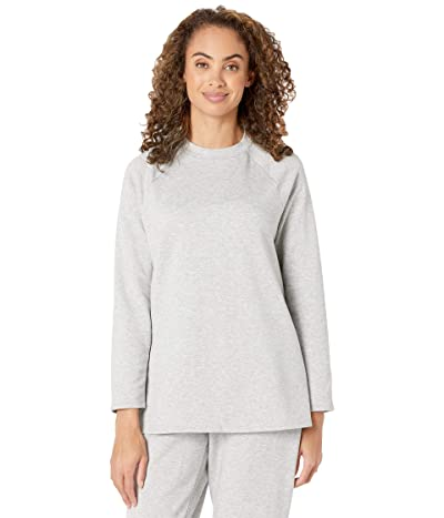 Eileen Fisher Organic Cotton Fleece Crew Neck Tunic (Dark Pearl) Women