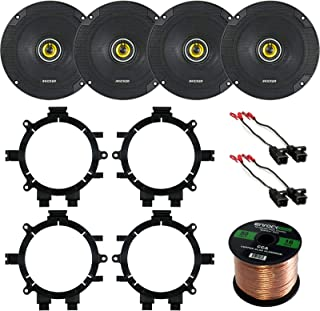 "Car Speaker Bundle Combo: 2 Pairs of Kicker 46CSC654 6.5"" Inch 600 Watts 2-Way CS-Series Black Car Stereo Coaxial Speaker ... photo"