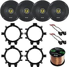 "Car Speaker Bundle Combo: 2 Pairs of Kicker 46CSC654 6.5"" Inch 600 Watts 2-Way.."