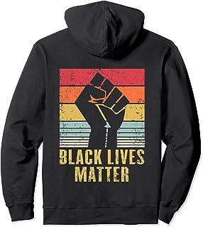 Black Lives Matter BLM プロテスト ブラック フィスト ヴィンテージ レトロ パーカー