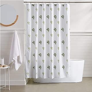 AmazonBasics Cactus Bathroom Shower Curtain - 72 Inch