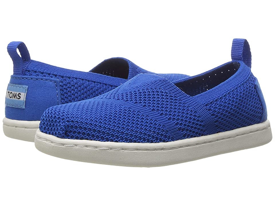 TOMS Kids Knit Alpargata Espadrille (Infant/Toddler/Little Kid) (Cobalt Mesh) Girls Shoes