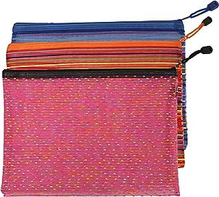 Kuber Industries Self Design 3 Piece Microfiber Reusable Mesh Fridge Bag