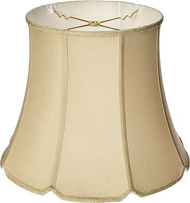 Royal Designs Paralume conico con intaglio a V, bianco, 10