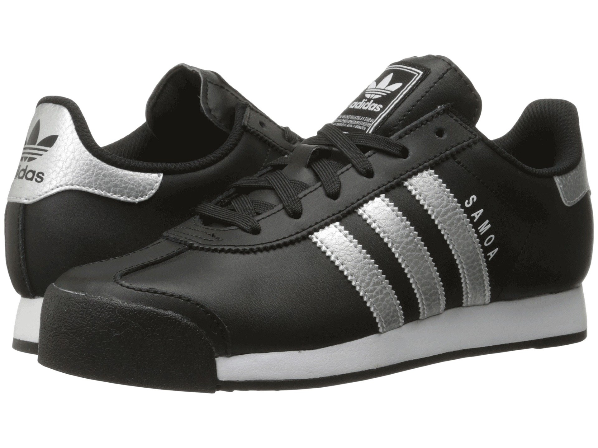 Adidas originali samoa cuoio, nucleo nero / argento metallico / calzature