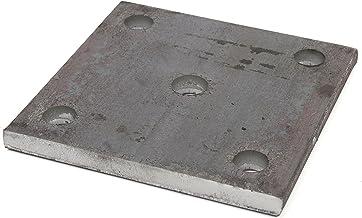 Oberfl/äche blank 10 St/ück! ST 37 mit 2 Bohrungen und Mittelloch Stahl Ankerplatte Qualit/ätsstahl S235 Bohrung 11 mm Durchmesser 100 x 8 mm