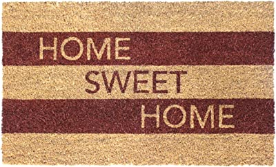 """Rugsmith Brown Sweet Home Machine Tufted Doormat, 18"""" x 30"""", Natural"""