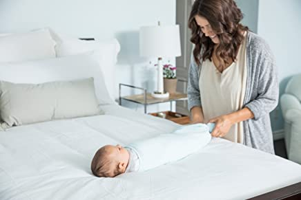 The Ollie Swaddle (Sky) - Helps to reduce the Moro (startle) reflex - Made from a custom designed moisture-wicking material