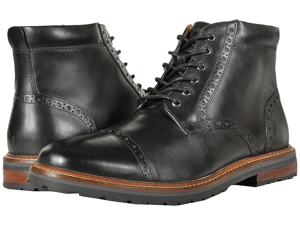 Florsheim Estabrook Cap Toe Boot (Black Smooth) Men