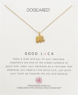 Good Luck, Elephant w/ Swarovski Crystal Necklace