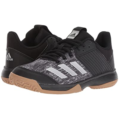 adidas Kids Ligra 6 Volleyball (Little Kid) (Black/Silver/White) Kids Shoes