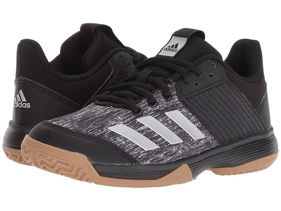 adidas Kids Ligra 6 Volleyball (Little Kid) (Black/Silver/White) Kids Shoes