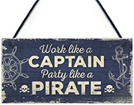 Meijiafei Funny Nautical Sign Captain Pirate Bar Pub Man Cave Kitchen Plaque Party Friendship Gift for Men 10