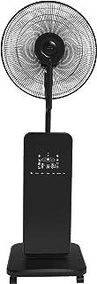 Domair SW40 - Ventilador brumizador (oscilación automática, configurable, pantalla LED con control remoto), 80 W, Negro
