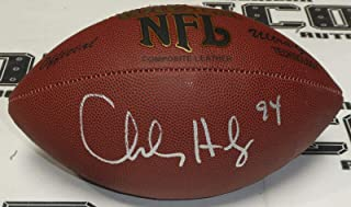 Charles Haley Signed Football COA 49ers Cowboys 5x Super Bowl Autograph - PSA/DNA Certified - Autographed Footballs