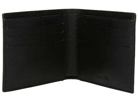 Billetero pequeño caja Lacoste regalo negro de con billetera llavero 6PwR5xqZn