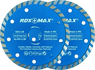 RDXMAX ® 115mm Diamond Cutting Discs for Angle Grinder | Pack of 2 – Fast, Clean Cut on Concrete, Tiles, Stones, Marble an...