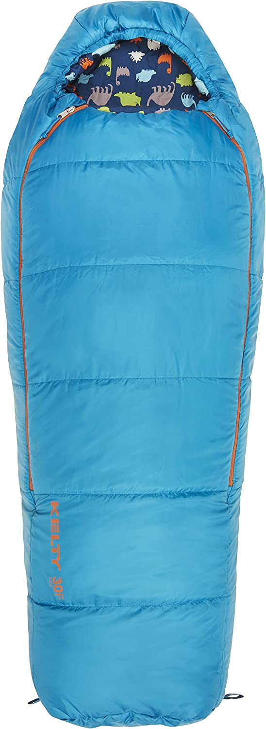 Kelty Boys Woobie 30 Degree RH Sleeping Bag Mosaic blueee Short