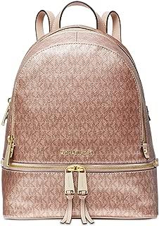 rose gold michael kors backpack