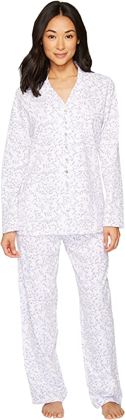 Eileen West - Jersey Notch Collar Pajama