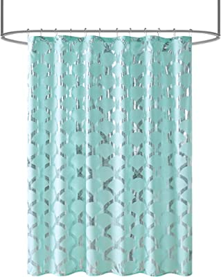 Amazon Com Ivy Bronx Leal Watercolor Stripe Single Shower Curtain Home Kitchen