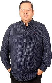 Mode XlBüyük Beden Erkek Gömlek Ukol Yıldız Baskılı 193