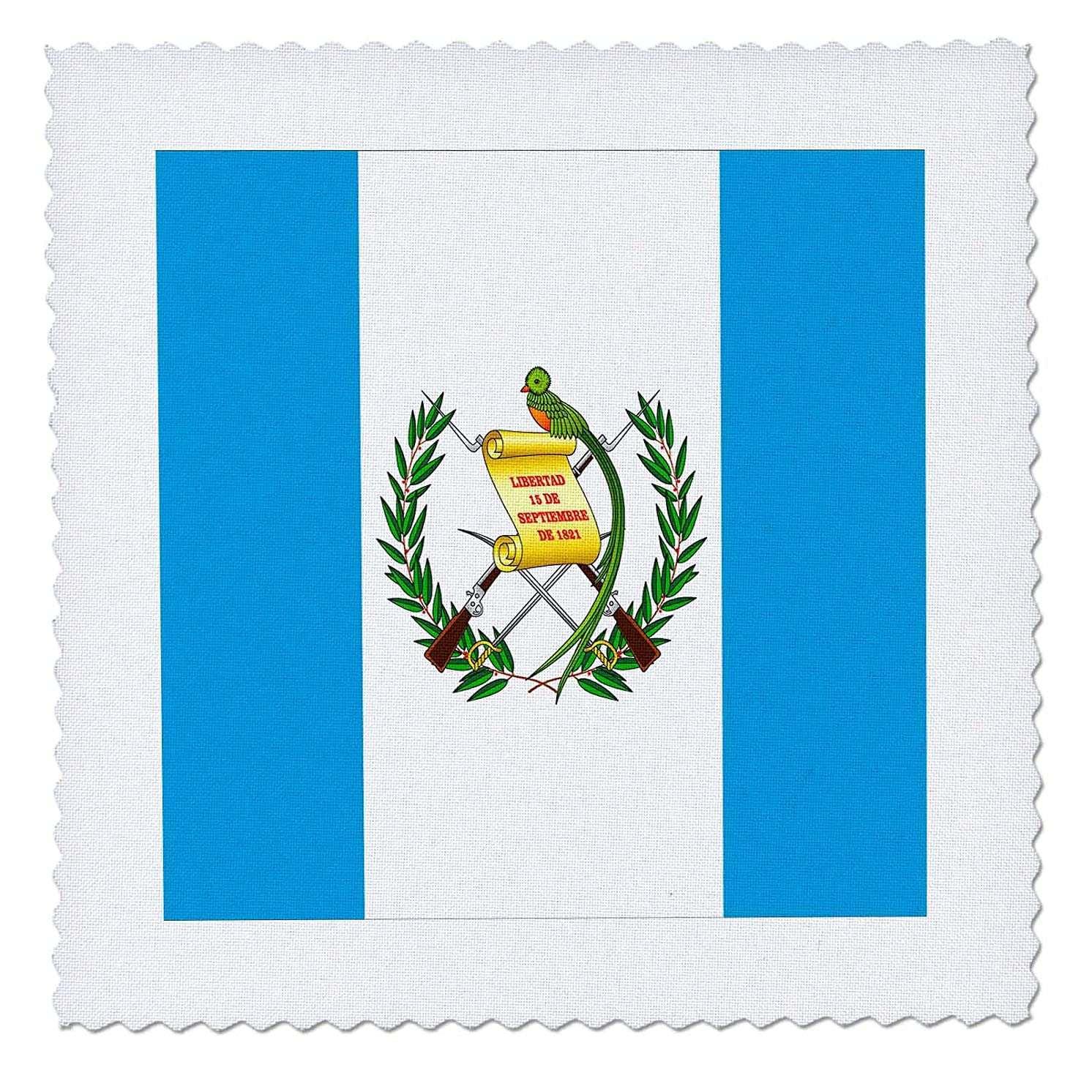 3dRose qs_31552_1 Guatemala Flag-Quilt Square, 10 by 10-Inch