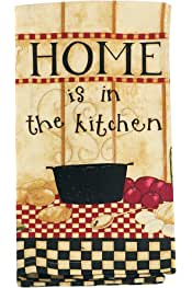 Kay Dee Designs Beach House Inspirations Salty Kisses Lobster Krinkle Flour Sack Towel