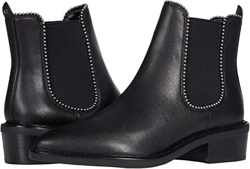 COACH Bowery Leather Bootie,Black