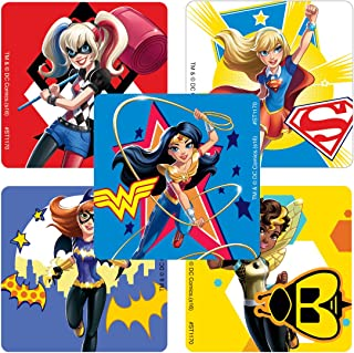 Bundle of 12 Sheets 240 Stickers Plus 2 Specialty Stickers Stickerland DC Superhero Girls Stickers Party Favors