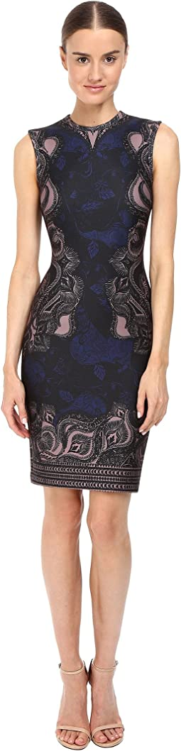 Abstract Ganesha Print Scuba Dress