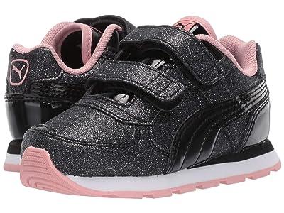 Puma Kids Vista Glitz Velcro (Toddler) (PUMA Black/Bridal Rose/PUMA White) Girls Shoes