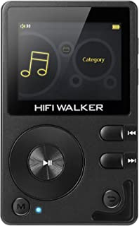 HIFI WALKER H2 High Resolution DAP Lossless Bluetooth FLAC WAV Digital Audio Player Portable with 16GB microsd Card and HD...