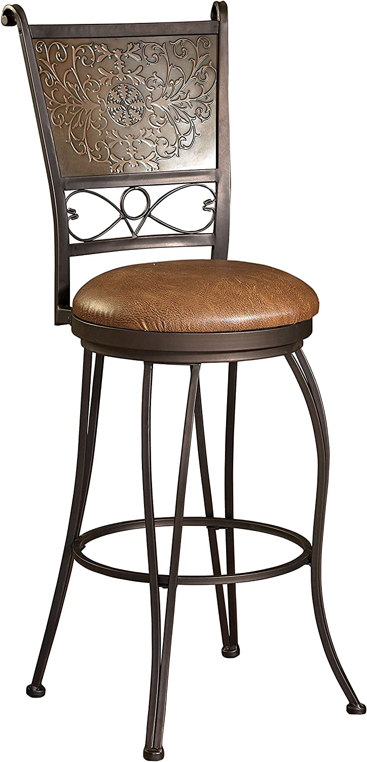 Powell Furniture Bronze with Muted Copper Stool Now free shipping High material Stamped Bar Back