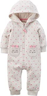 Baby Girls' 1 Pc Polka Dot Cat Romper (Cat Polka Dot, 6 Months)