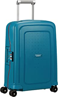 SAMSONITE S'Cure - Spinner Hand Luggage 55 Centimeters 34 Blue (Petrol Blue Stripes)
