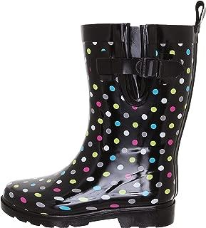 Capelli New York Shiny Floral Printed Mid-Calf Rain Boot