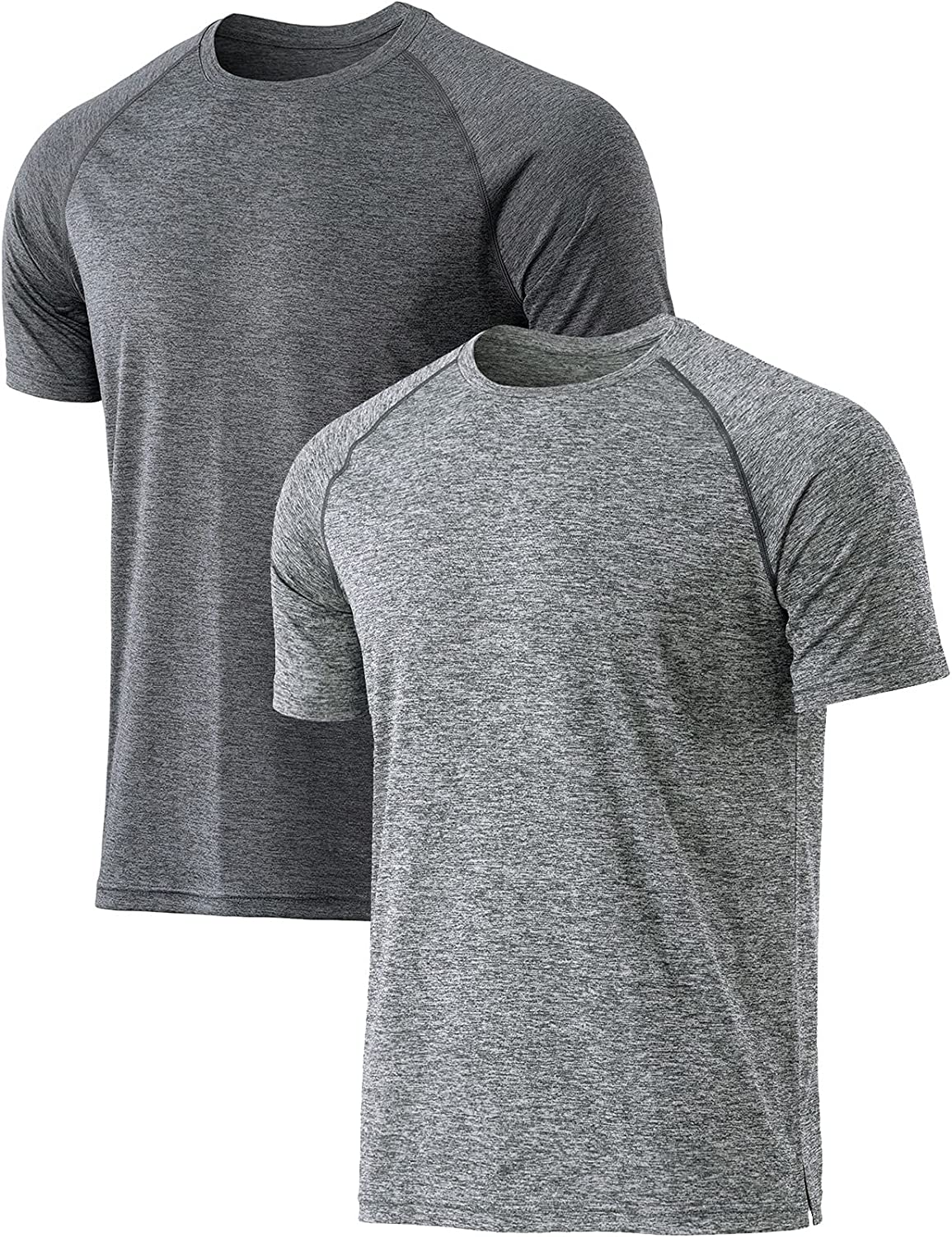 TSLA Popular popular 1 or 2 High quality Pack Men's Moisture Workout Shirts Dry Running Fit