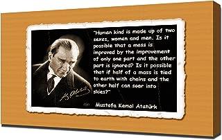 Mustafa Kemal Ataturk Quotes 10 - Canvas Art Print