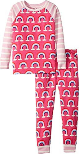 Pretty Rainbows Organic Cotton Pajama Set (Toddler/Little Kids/Big Kids)